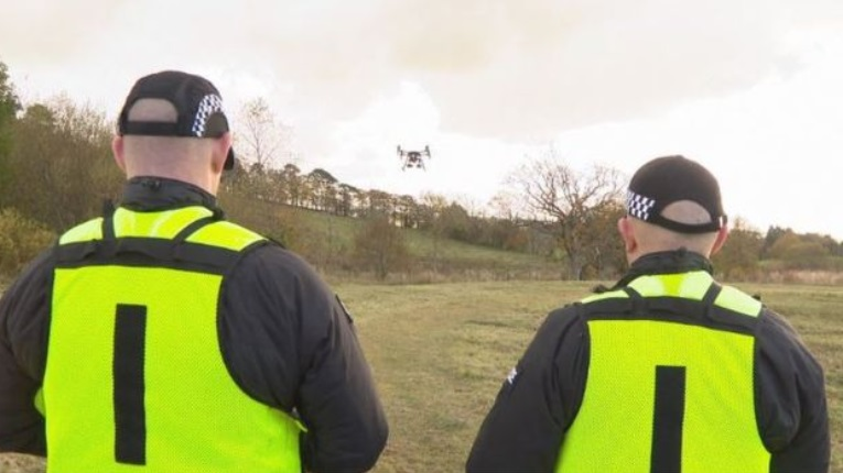 police scotland using drone to find people
